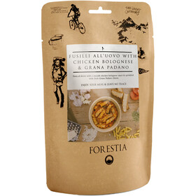 Forestia Outdoor Maaltijd Vlees 350g, Fusilli all'Uovo with Chicken Bolognese and Grana Padano
